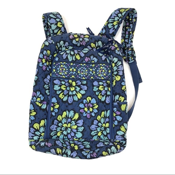 Vera Bradley backpack laptop case blue floral